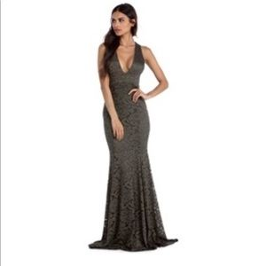Evening Gown- Olive Size MEDIUM